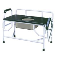 Bariatric Drop Arm Bedside Commode Seat DRI11132-1